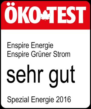 Öko-Test sehr gut für Enspire Energie
